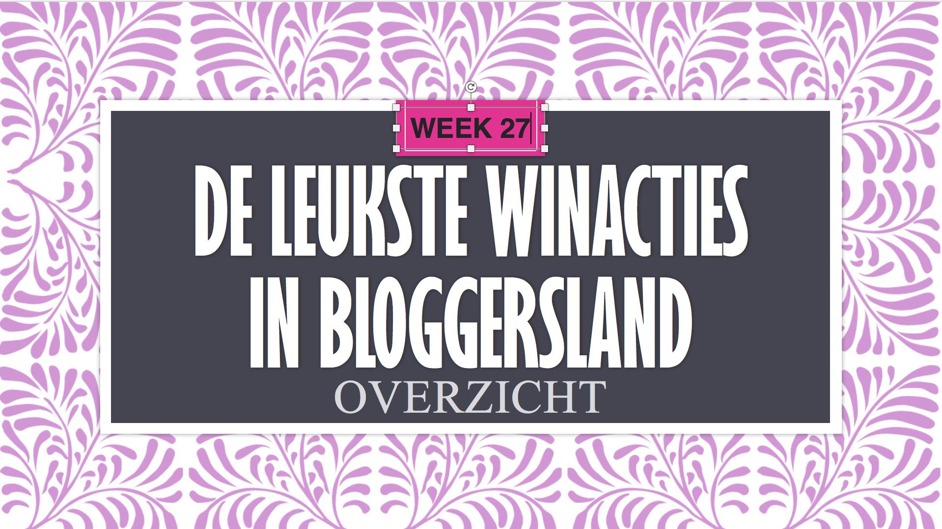 Leukste witacties Bloggersland #27