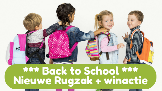 Back to School - nieuwe rugzak