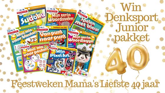 Feestweken Mama's liefste 40 jaar Denksport Junior pakket