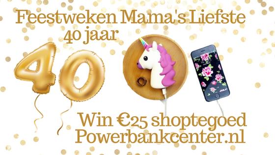 Feestweken Mama's liefste 40 jaar Powerbankcenter.nl