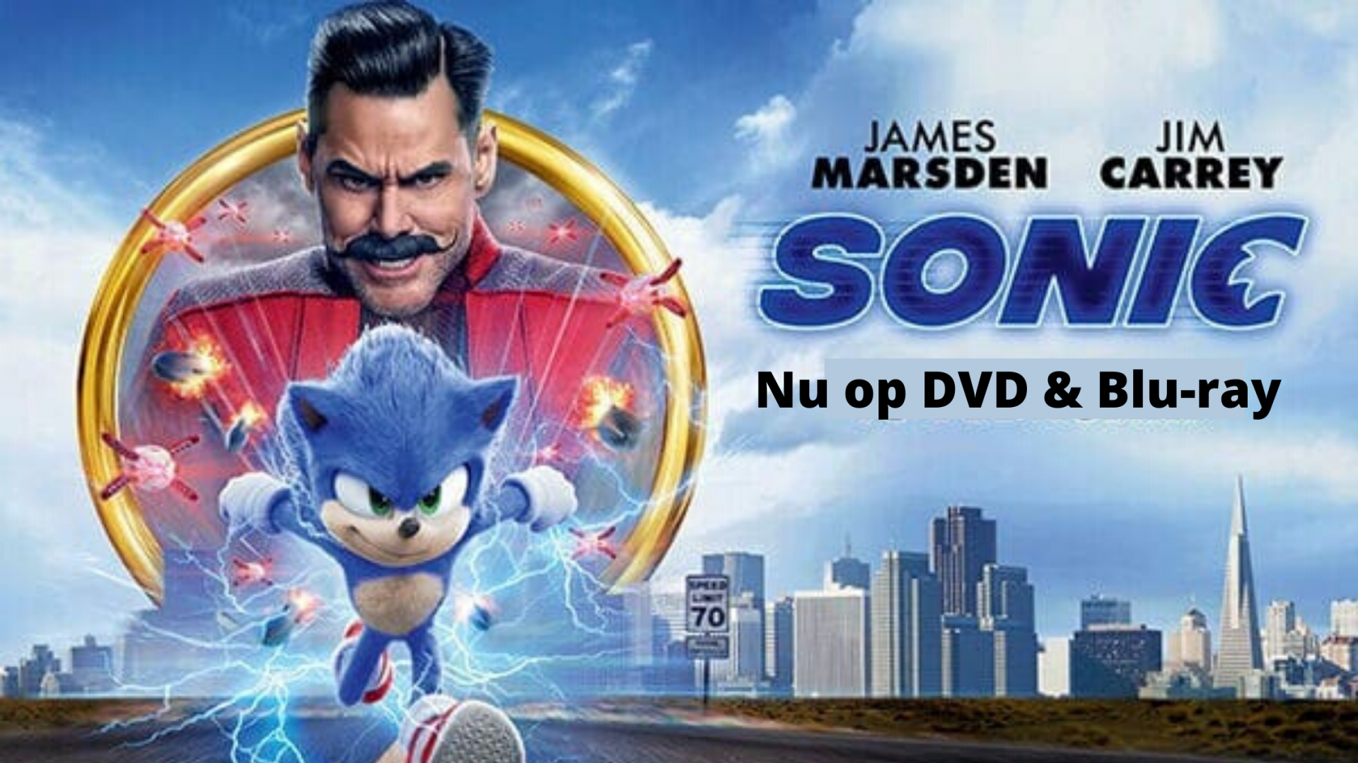 Sonic The Hedgehog film nu te zien op DVD en Blu-ray