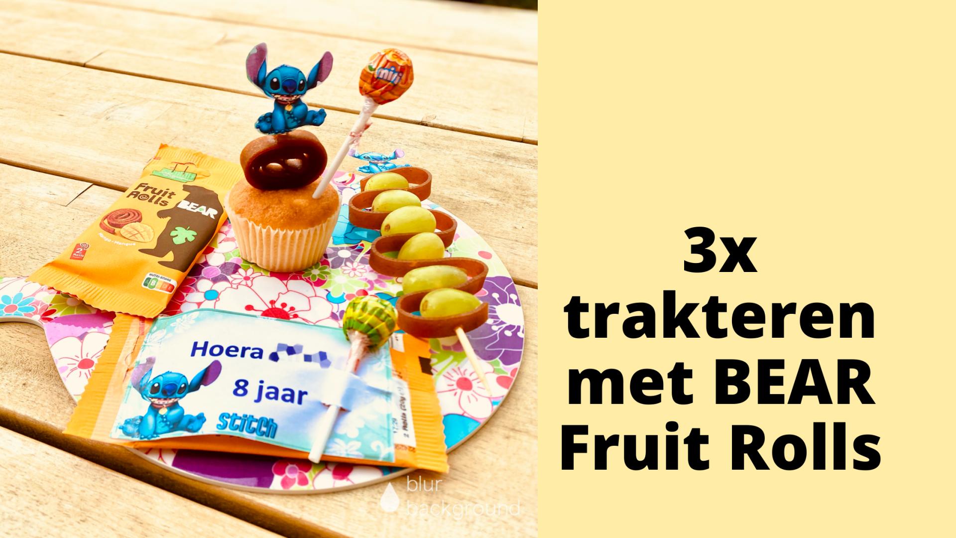 3x trakteren met BEAR Fruit Rolls