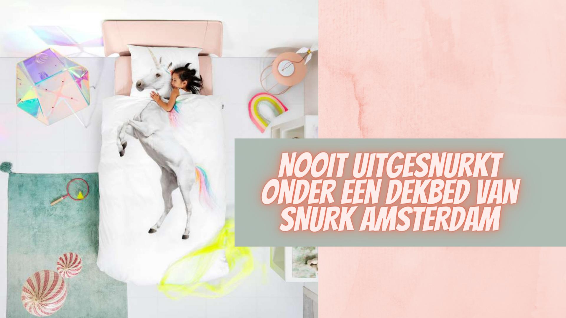 Nooit uitgesnurkt onder een dekbed van SNURK AMSTERDAM